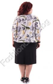 Изтънчен модел макси рокля в нежен бял десен на цветя