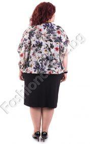 Елегантен модел макси рокля в пъстър десен на малки цветенца