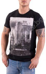 Мъжка тениска с оригинална щампа и надпис New York