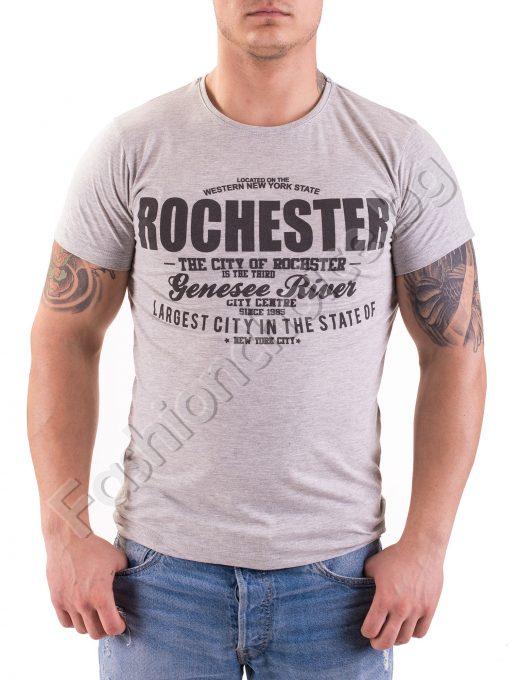 Мъжка тениска от памук Rochester в три цвята