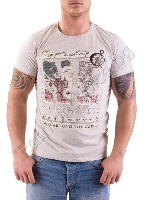 Тениска с къс ръкав от памук North West в три цвята