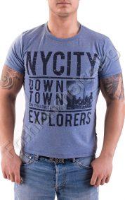 Мъжка тениска с обла яка NY CITY в три цвята