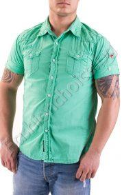 Мъжка риза с къс ръкав в жълто или цвят мента
