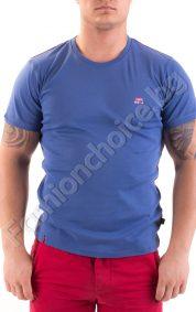 Изчистена мъжка тениска от памучен фин рипс в пет цвята