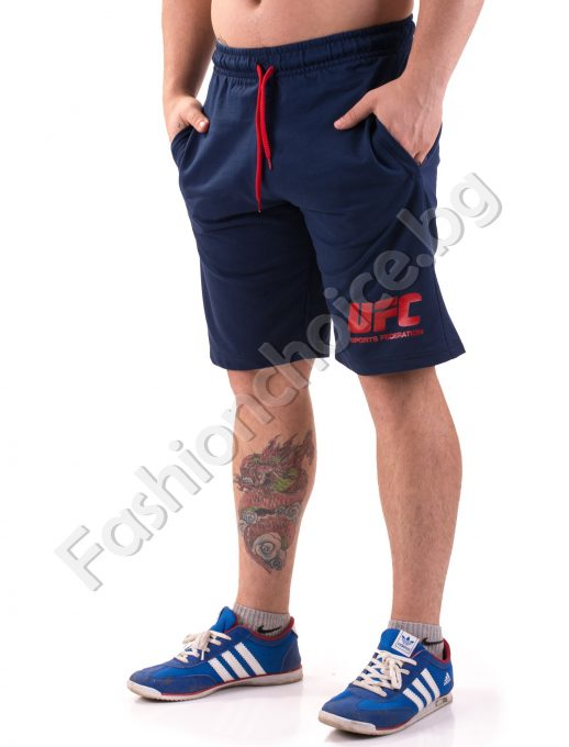 Летни мъжки 3/4 панталонки UFC от памук в три цвята