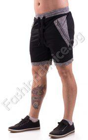 Мъжки къси панталони със странични джобове с ципове