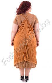 Дамска рокля от две части в големи размери /2XL, 3XL, 4XL, 5XL/