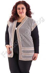 Удобен макси елек със свободна кройка от плетиво в 4 цвята