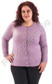 Комфортна макси жилетка с обло деколте в 9 цвята