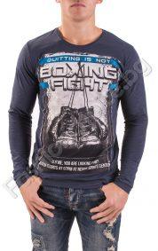 Мъжка блуза с дълъг ръкав с надпис Boxing fight