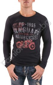 Мъжка блуза с дълъг ръкав и щампа на мотор