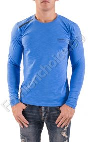 Изчистен модел мъжка блуза с дълъг ръкав в три цвята