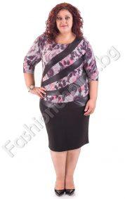 Изящна макси рокля с ефектна горна част/3XL, 4XL. 5XL/