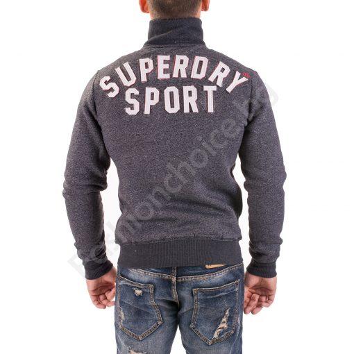 Мъжко топло горнище с цип и надпис SUPERDRY SPORT