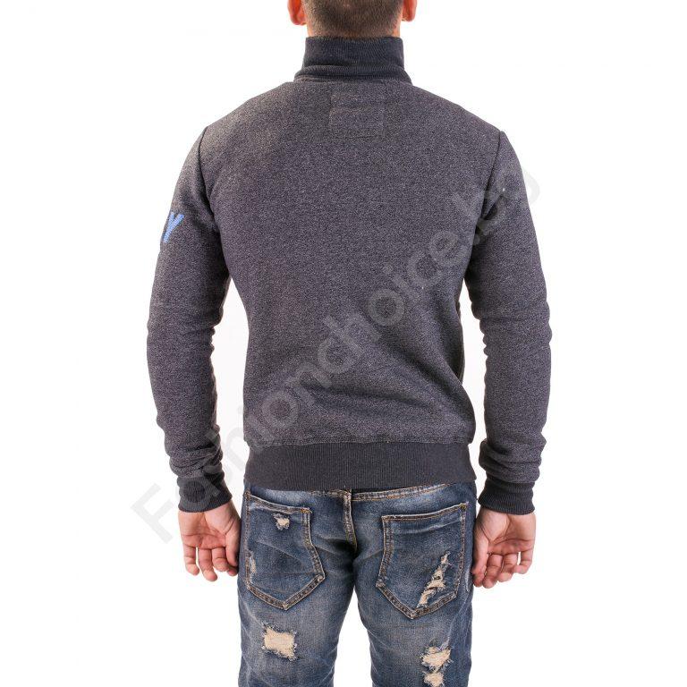 Топъл модел мъжки суичър с ефектен надпис в предната част