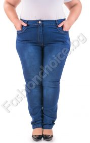Изчистени макси дънки, прав модел в черен и тъмно син цвят