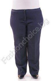 Стилен плътен дамски панталон в два цвята за макси дами