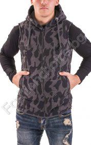 Камуфлажна мъжка грейка с джобчета и качулка