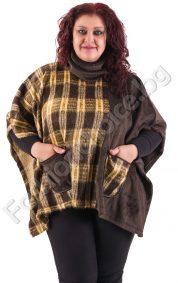 Пухкава макси наметка в три актуални разцветки с джобчета