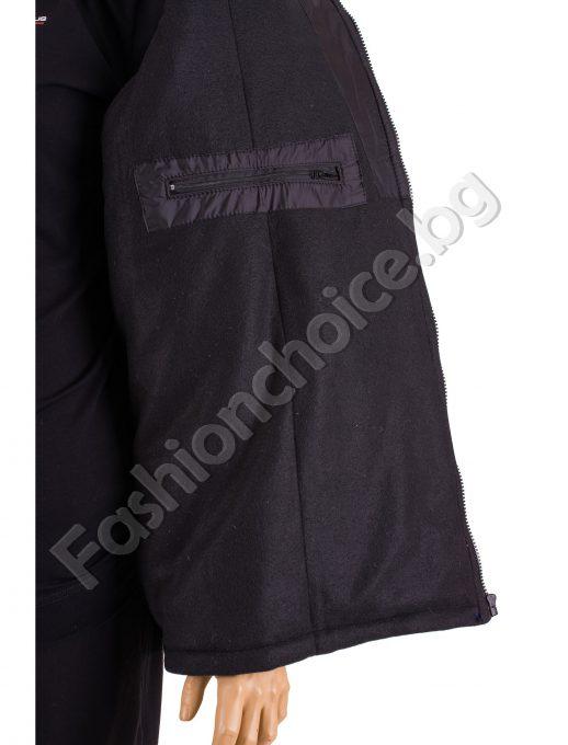 Ватирана топла мъжка грейка в черно /макси размер/