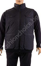 Топла макси мъжка грейка с якичка и джобчета