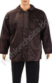 Плътна зимна мъжка шуба в три цвята /макси размер/Плътна зимна мъжка шуба в три цвята /макси размер/