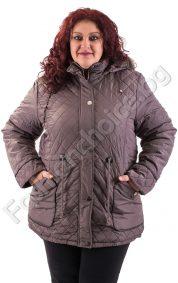 Дебело зимно макси яке с леко издължена задна част