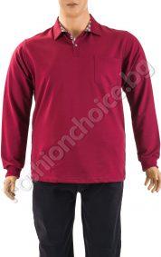 Изчистена мъжка макса блуза с джобче в предната част