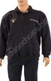 Дебела мъжка макси блуза с джоб и надпис GolfcluB