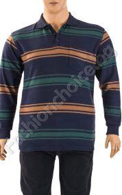 Практична мъжка макси блуза на райета с джобче