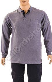Топла мъжка макси блуза с якичка в два актуални десена