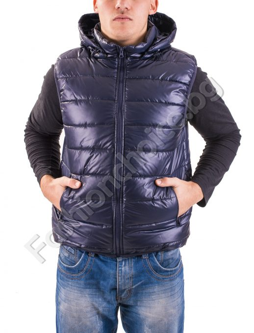 Мъжка грейка в пет цвята с джобчета и махаща се качулка