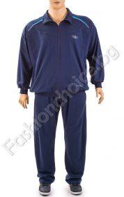 Комфортен мъжки макси спортен комплект в тъмно синьо