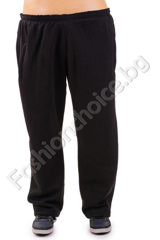 Плътно мъжко макси долнище в черно и тъмно сиво