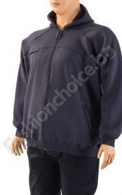 Дебел мъжки суичър с качулка в сив цвят /макси размер/Дебел мъжки суичър с качулка в сив цвят /макси размер/