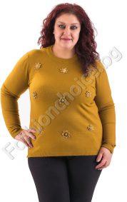 Прекрасна дамска блуза с красиви малки цветчета/макси размери/