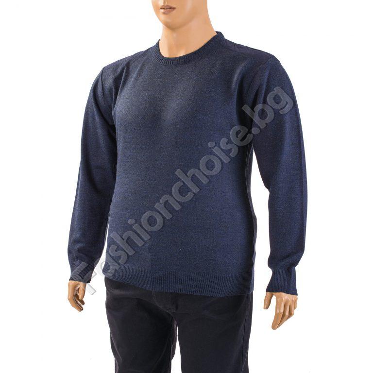 Изчистен мъжки макси пуловер в два актуални цвятаИзчистен мъжки макси пуловер в два актуални цвята