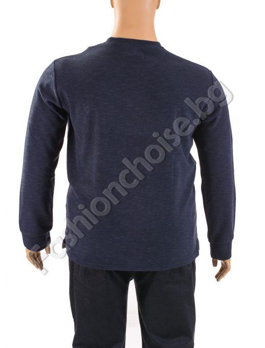 Прав модел мъжка макси блуза с емблема в три цвята