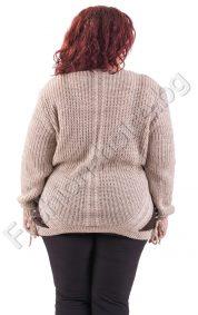 Топъл макси пуловер с интересна декорация в 5 актуални десена