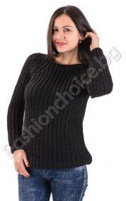 Страхотен зимен дамска пуловер в четири актуални десена