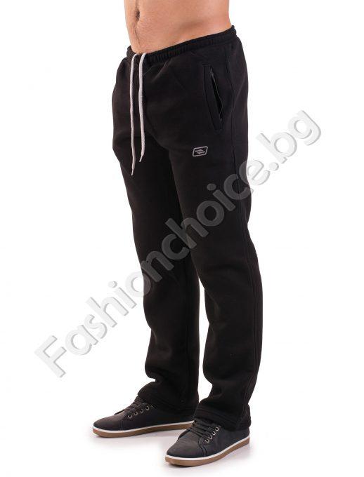 Зимно спортно мъжко долнище в черен цвят