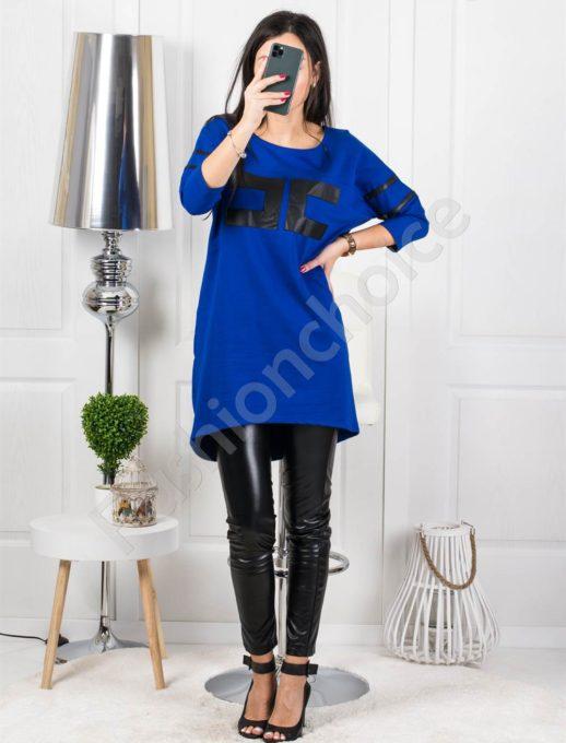 Асиметричен модел рокля туника с издължена задна част