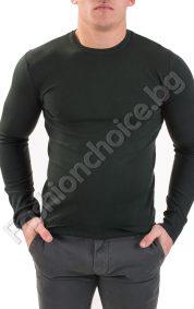 Топъл мъжки пуловер от фино плетиво в черно, бордо и зеленоТопъл мъжки пуловер от фино плетиво в черно, бордо и зелено