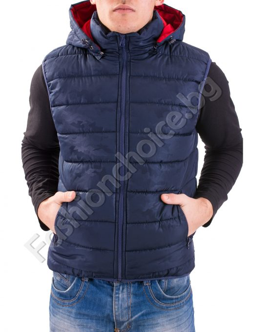 Камуфлажна мъжка грейка в три цвята с махаща се качулка