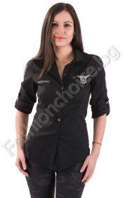 Дамска риза в класически черен или бял цвят