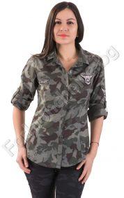 Камофлажна дамска риза с регулиращи се ръкави