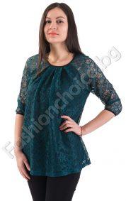Дантелена дамска блуза в три ефектни десена