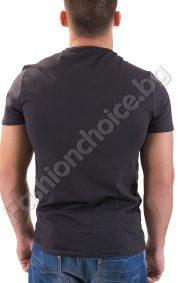 Мъжка тениска в сиво с надпис On the road again!
