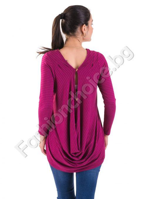 Дамска туника с екстравагантен гръб в два актуални цвята