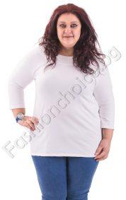Изчистена макси блуза с ефектна задна част в 4 цвята